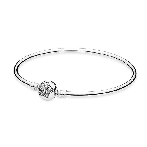 2018 Pandora Moments Star Silver Bangle 590720CZ